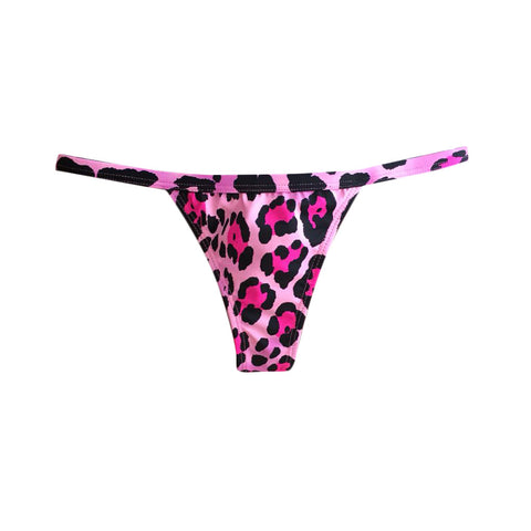 MINI TANGA REVERSIBLE STRIPS NEON NEGRO