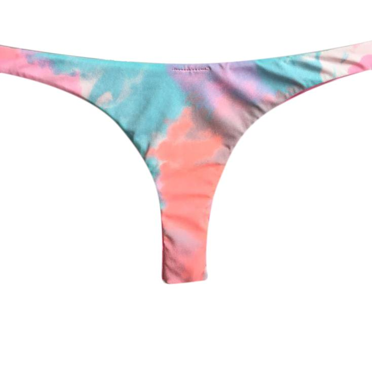 TANGA ASA DELTA REVERSIBLE TIE DYE CANDY COLOR