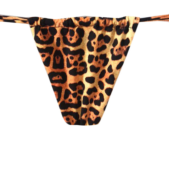 TANGA CORTINA LAZO ANIMAL PRINT JAGUAR