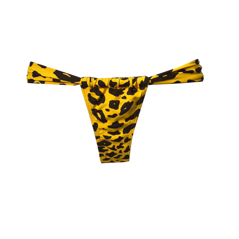 TANGA CORTINA ANIMAL PRINT AMARILLO