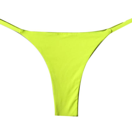 MINI TANGA REVERSIBLE AMARILLO NEON