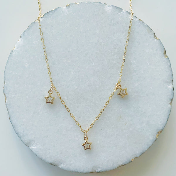 Glam Dangling Stars Necklace