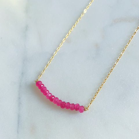 Magenta Jade Necklace