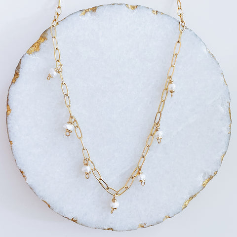 Dainty Dangling Pearls Choker/Necklace