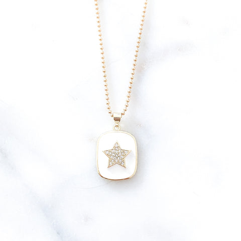 White Star Medal Necklace