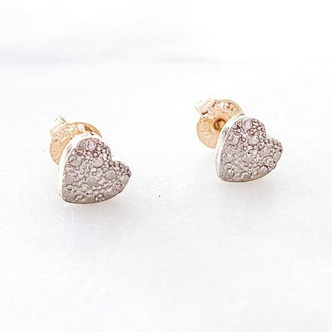 Two Tone Heart Studs