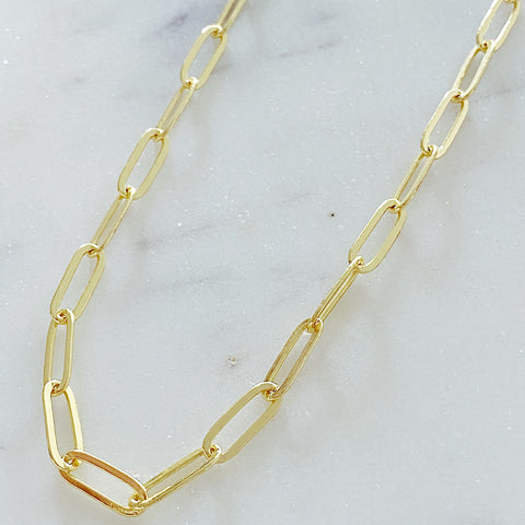 Large Thin Oval Link Neclace
