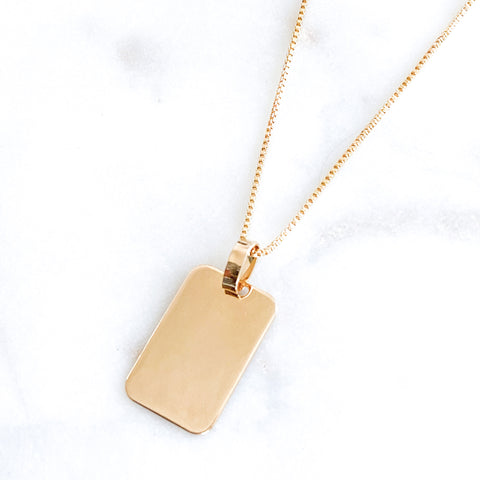 Solid Tag Midi Necklace