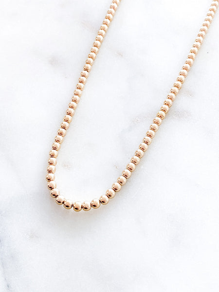 5mm Gold Beads Necklace