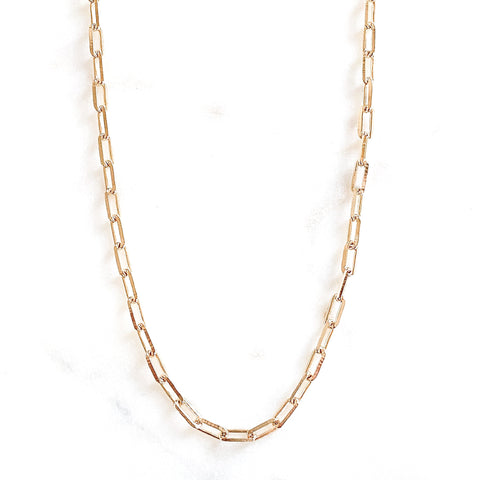 5mm Paper Clip Necklace