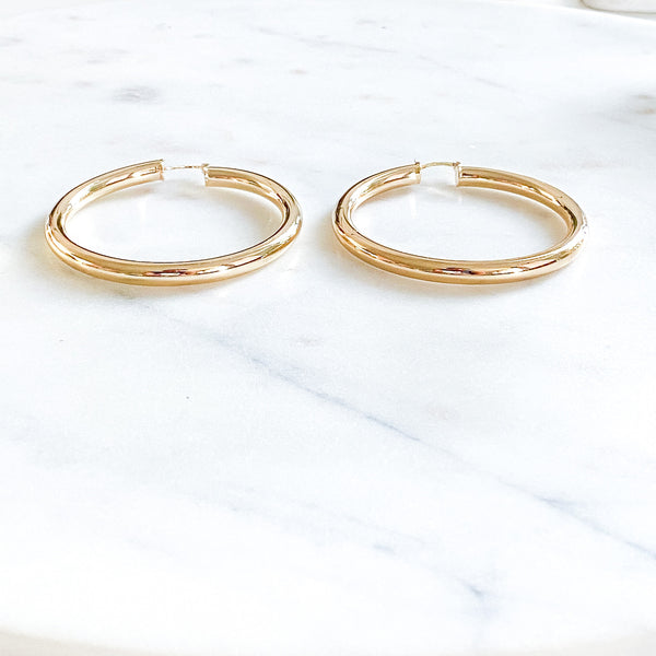 Thicker Large Classic Hoops
