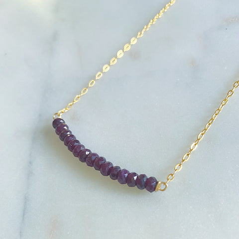 Amethyst Jade Necklace