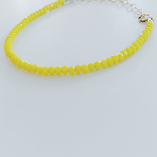 Yellow Crystals Bracelet