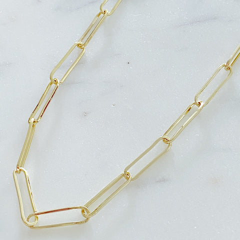 Paper Clip Link Necklace