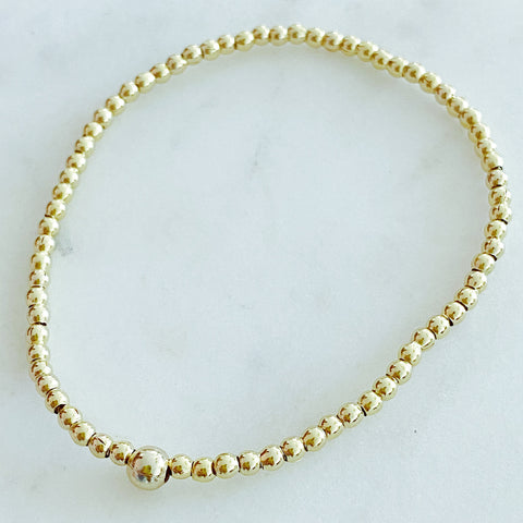 Small Gold Ball Bracelet