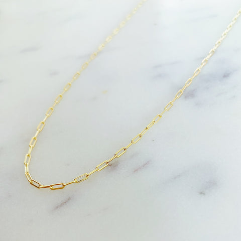 2mm Paper Clip Necklace