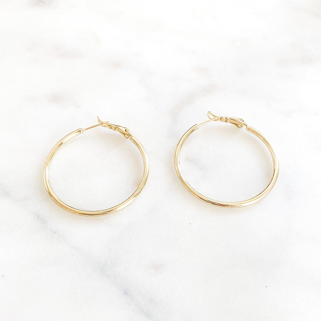 Thin Medium Hoops
