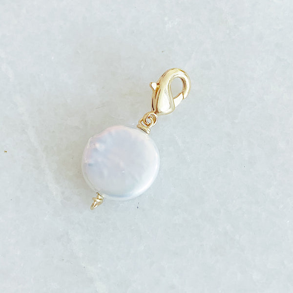 Coin Fresh Water Pearl Charm