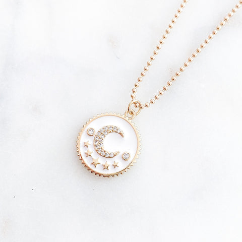 From Venus To The Moon Necklace in White