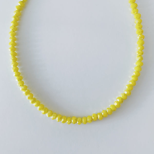 Frosted Bright Yellow Bracelet