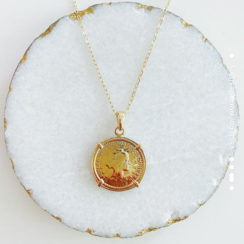 Large Moneda Necklace