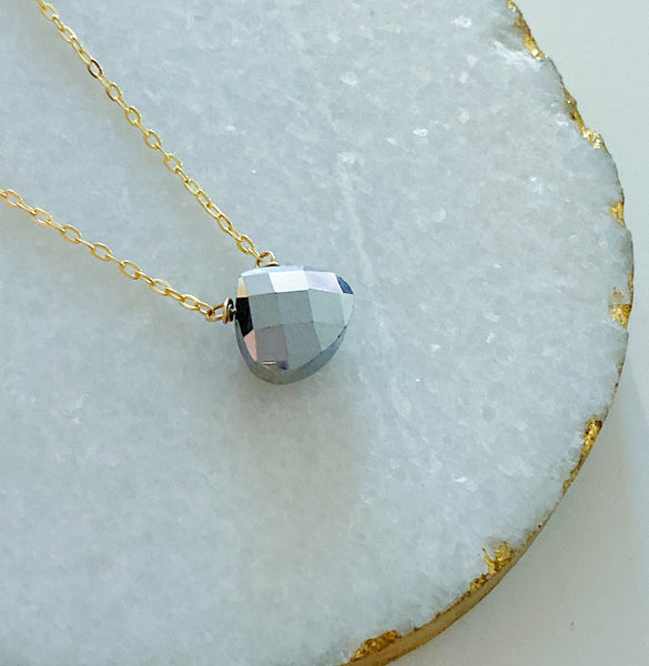 Silver Briolette Necklace