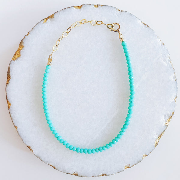 Turquoise Crystals Bracelet