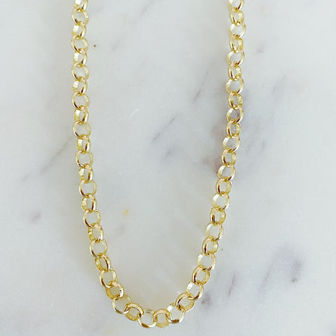 Large Rolo Link Necklace