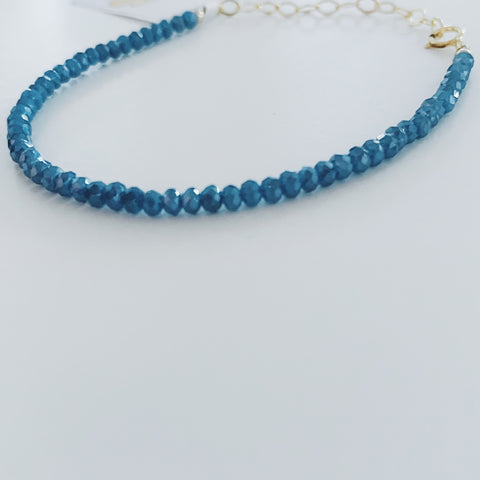 Frosted Blue Crystal Bracelet
