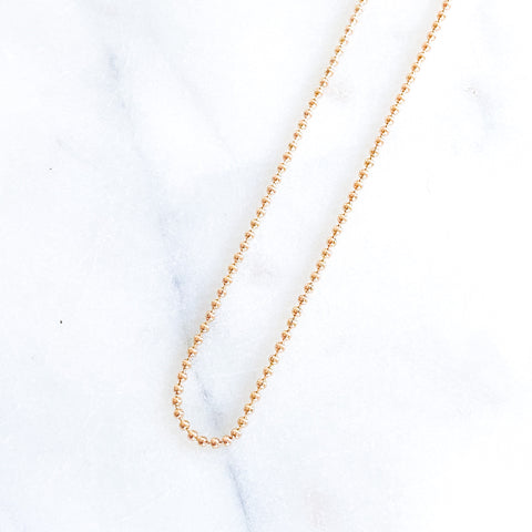 Thicker Gold Beads Necklace