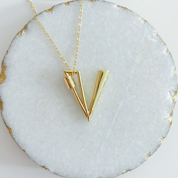 Letter Lock Necklace