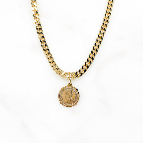 Small Moneda Cubana Necklace