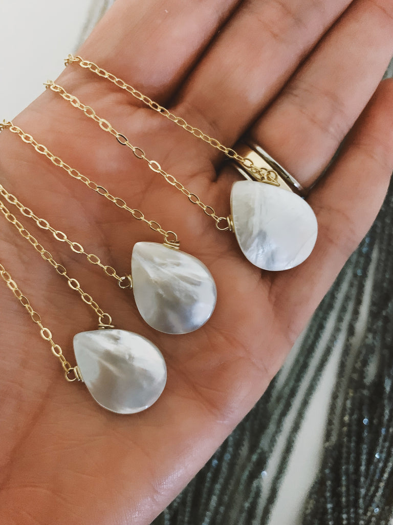 Mother of Pearl Large Drop
