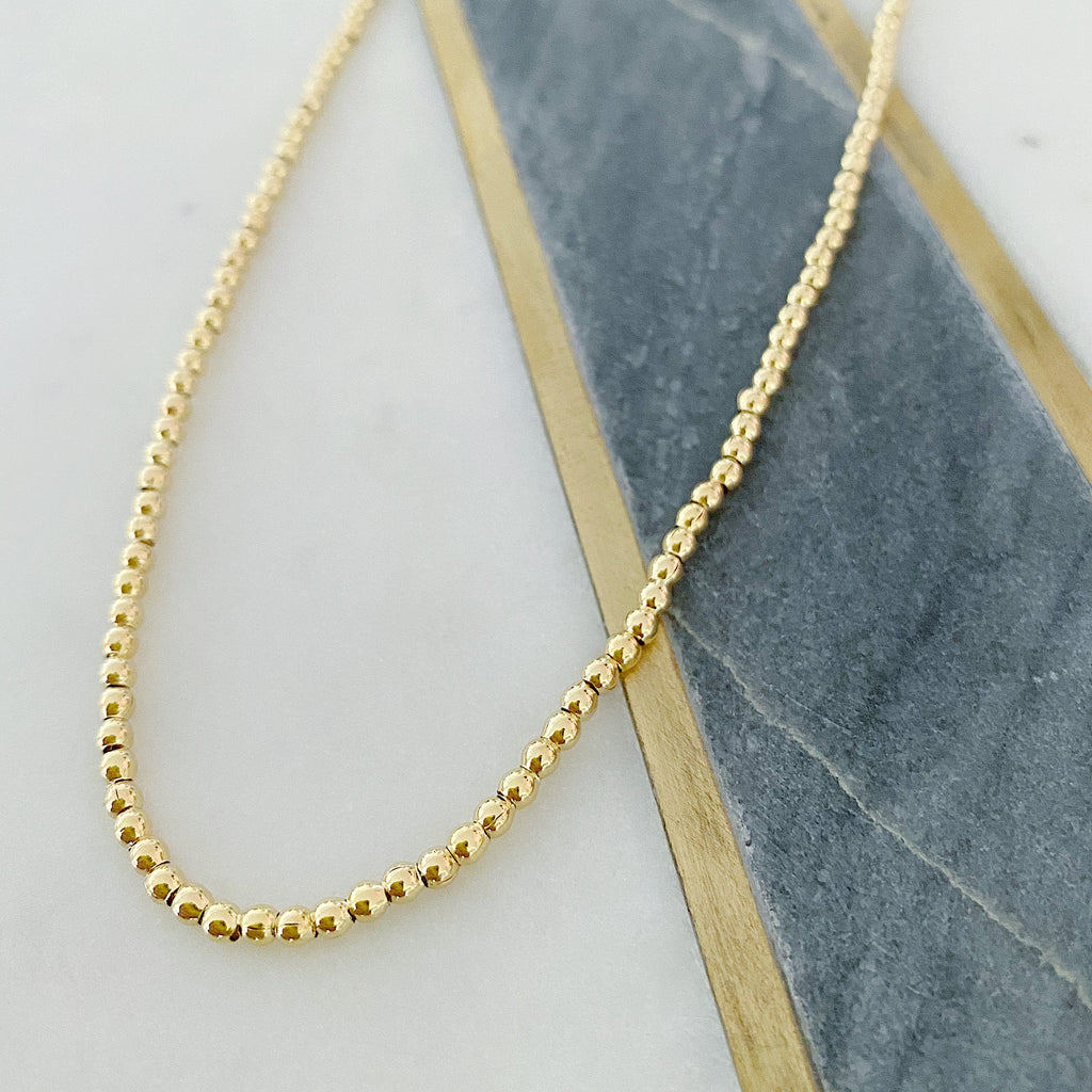 Small Gold Ball Neckkace
