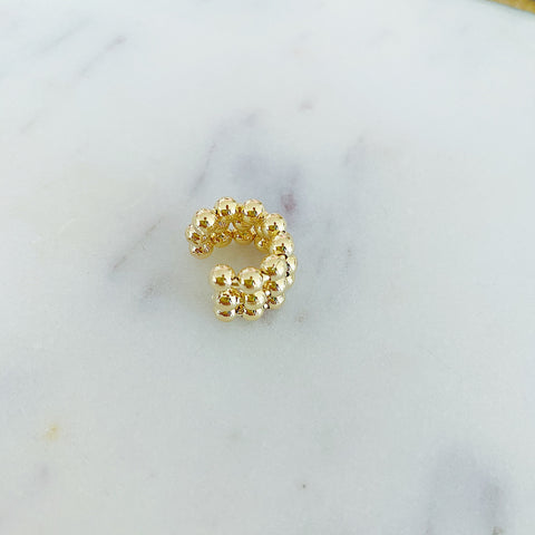 Triple Gold Ball Ear Cuff