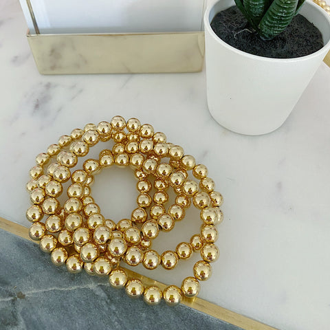 Large Gold Ball Bracelet