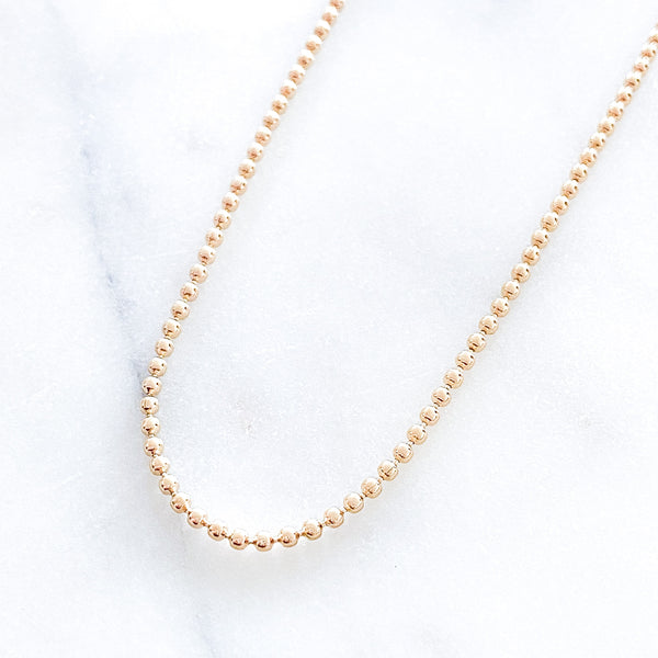 Gold Beads Necklace