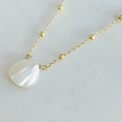 Mother of Pearl Small Drop In Satellite Chain