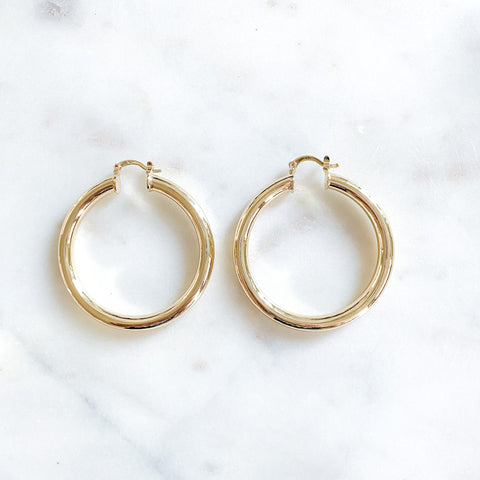 Thicker Medium Classic Hoops