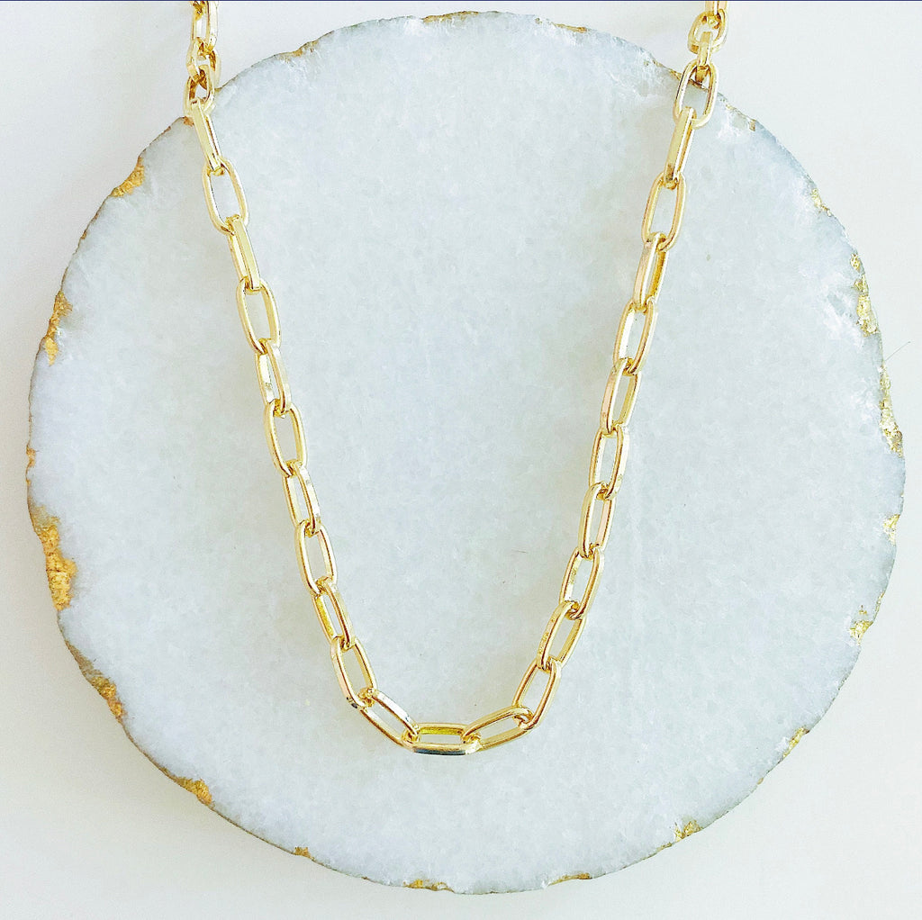 Oval Link Chunky Necklace