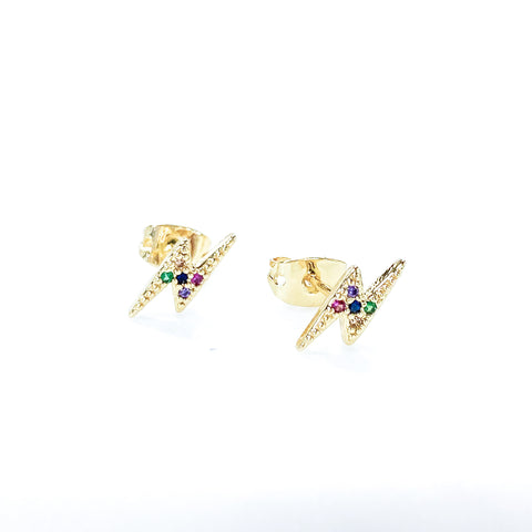 Colorful Lightning Studs