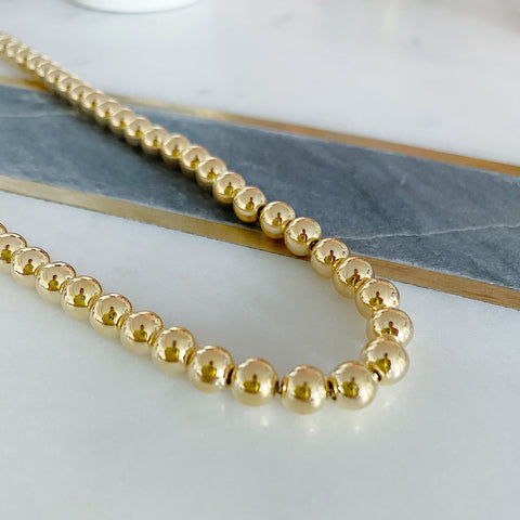 Large Gold Ball Necklace