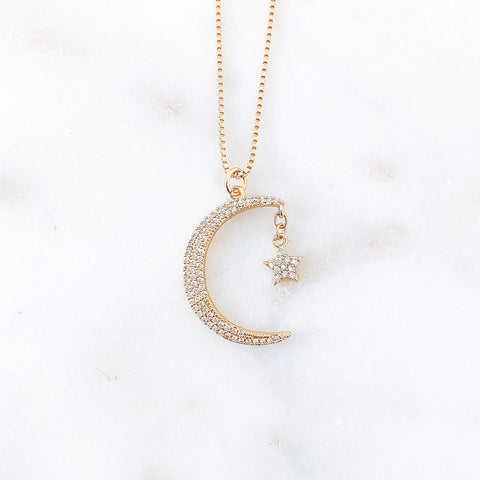 Small Moon Goddess Necklace