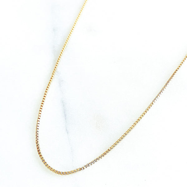 Cubic Link Chain Necklace