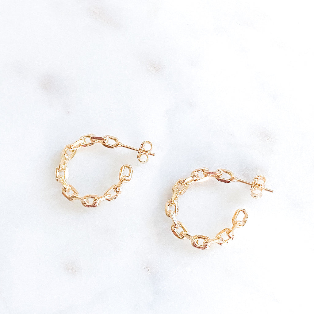 Medium Chain Hoop Earring