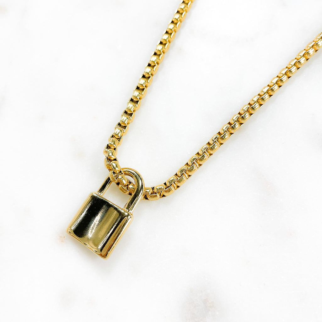 The Chunkiest Lock Necklace