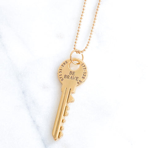 Be Brave Key Necklace