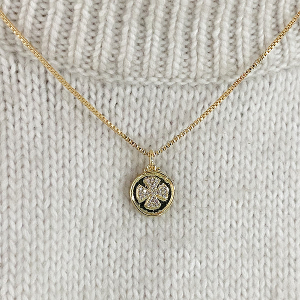 Marllie Cross Medallion Necklace