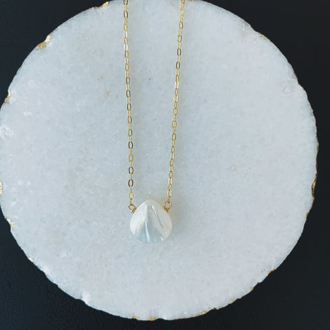 Mother of Pearl Small Drop Necklace