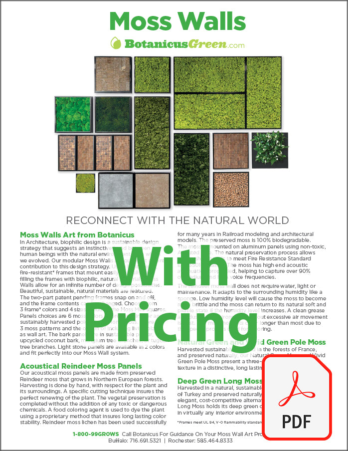 Botanicus Green Moss Wall Brochure with Pricing
